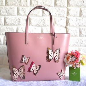 💖NWT Kate Spade Little Len Butterfly Tote